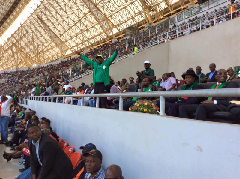 Photos: Sports minister Solomon Dalung celebrates as Eagles beat Zambia 2 - 1