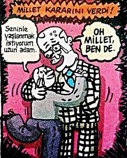 uzun adam karikatürü