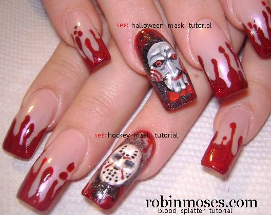 Nail Art By Robin Moses Scary Nails Gore Nails Horror Nails