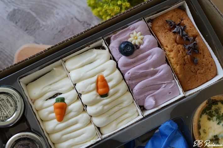 Selection of loaf cakes in the Piglet's Pantry Vegetarian Afternoon Tea