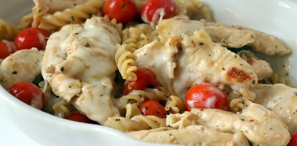 Spicy Lemon Tomato Chicken Pasta