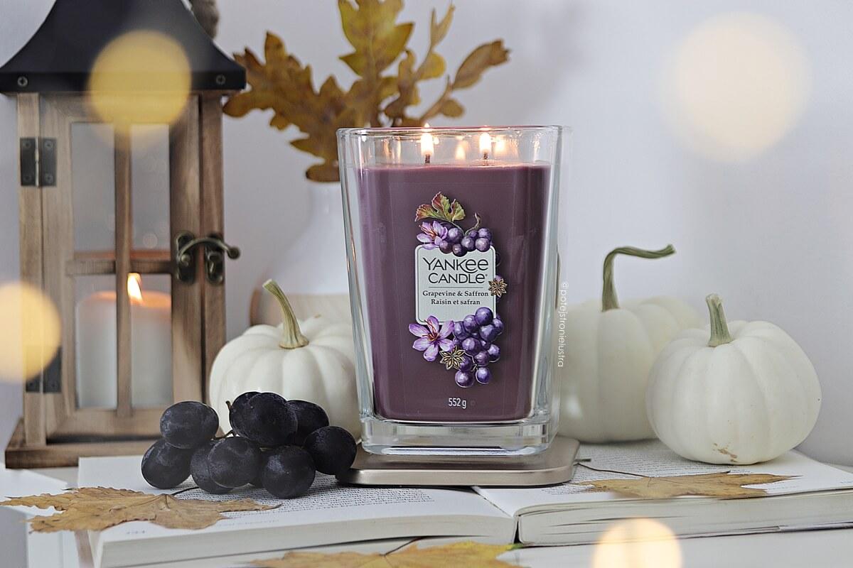 Grapevine & Saffron | Nowość Yankee Candle Elevation Collection with Platform Lid na jesień 2020