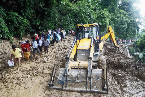 Direct road link form Siliguri to Gangtok, Kalimpong snapped