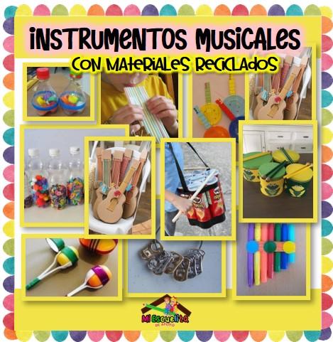 instrumentos musicales con materiales reciclados