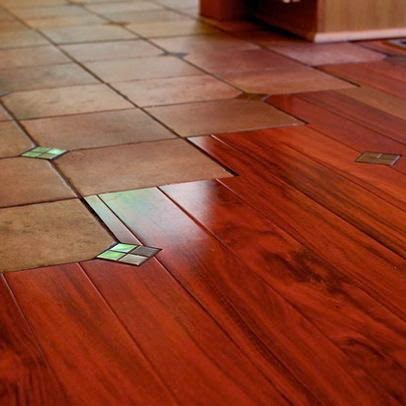 Using Carpet Hardwood Amp Tile For Creative Floor