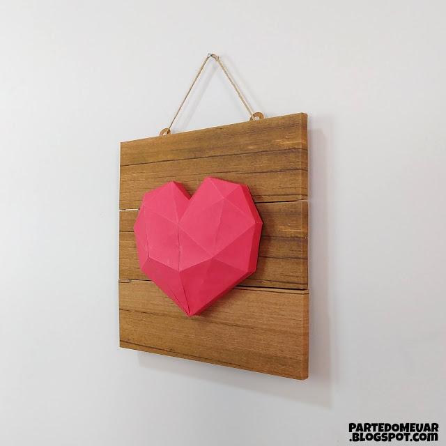 diy plaquinha madeira