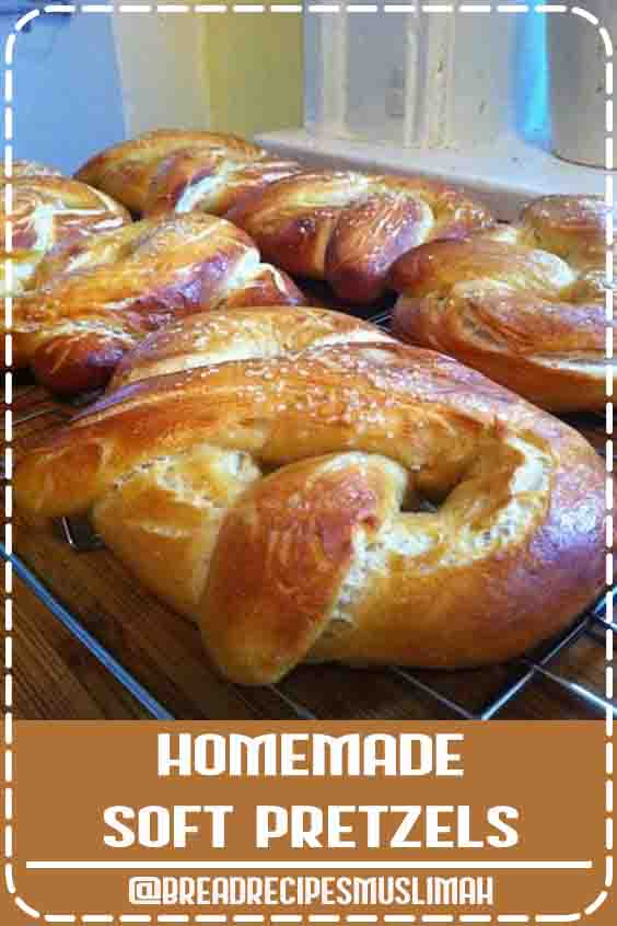 For a taste of the fair at home, try Alton Brown's Homemade Soft Pretzels recipe from Good Eats on Food Network. #yeast #bread #recipes #king #arthur