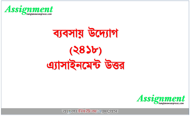 HSC BM Business Enterprise (2418) Assignment Answer