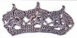 Patron #1525: Puntilla a Crochet