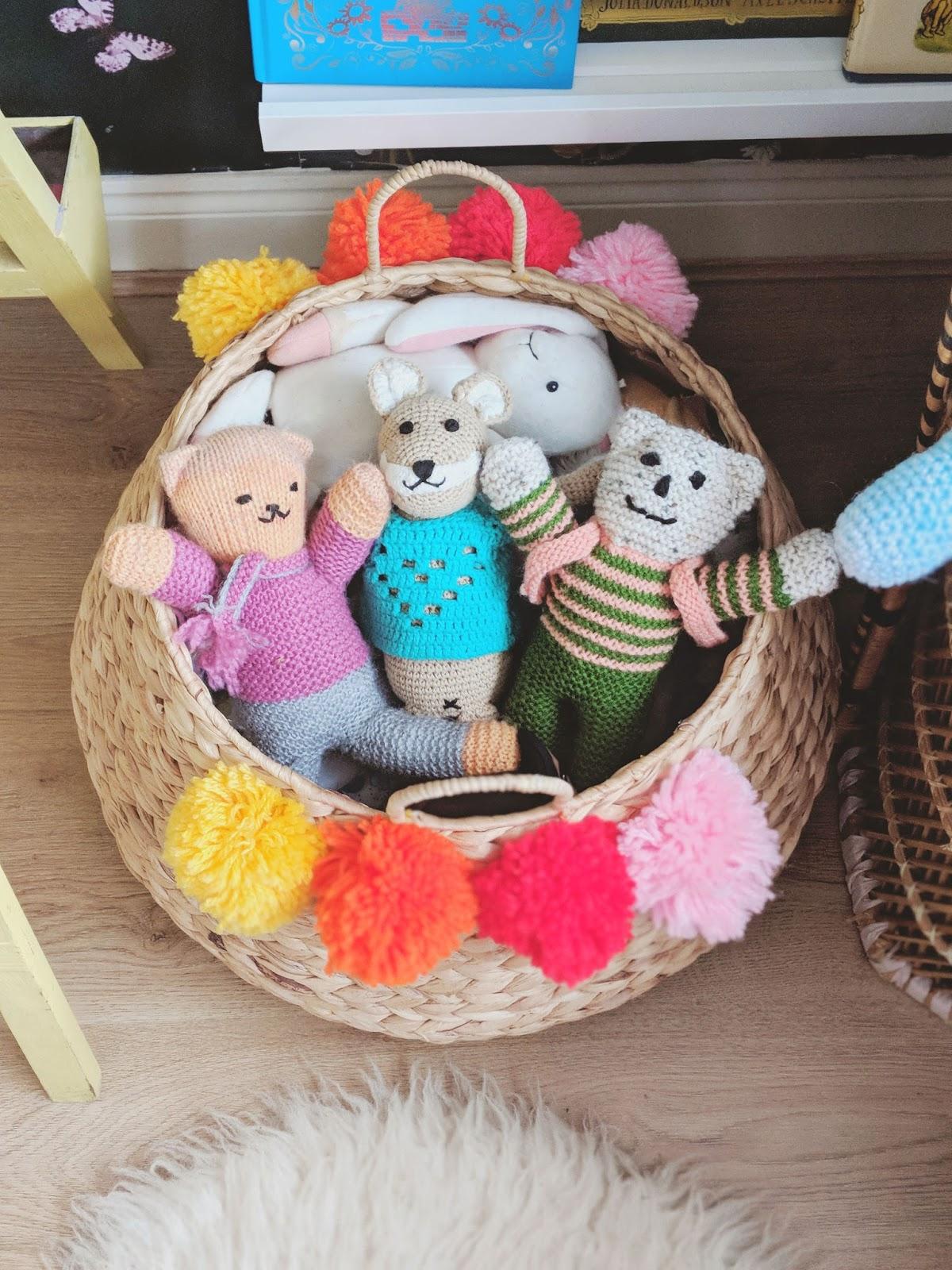 Basket toy storage
