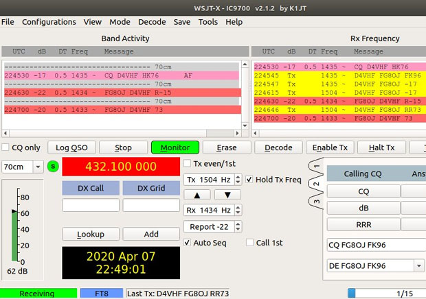 Historic first Trans-Atlantic contact made on 432 MHz - Tues 7th April 2020 3