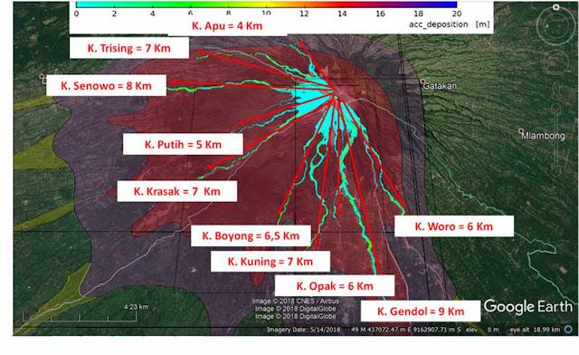 kubah lava merapi 10 juta m3