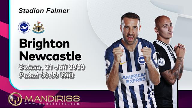 Prediksi Brighton & Hove Albion Vs Newcastle United, Selasa 21 Juli 2020 Pukul 00.00 WIB