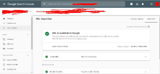url-inspection,google-search-console-in-hindi