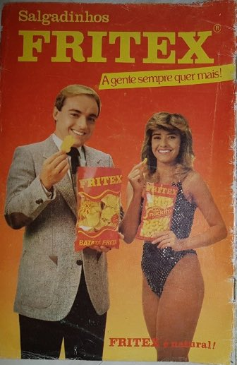 Propaganda antiga dos Salgadinhos Fritex apresentada pelo apresentador Gugu