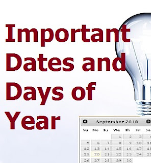 Important Dates and Days of Year