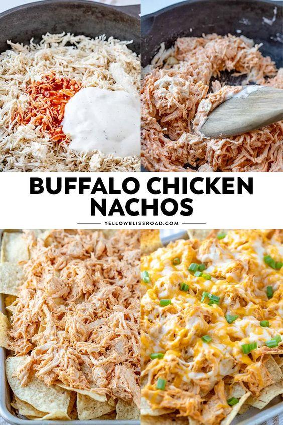 Delicious Buffalo Chicken Nachos