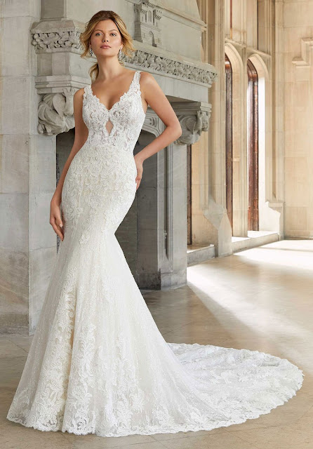 Mori lee style with ivory color wedding dress