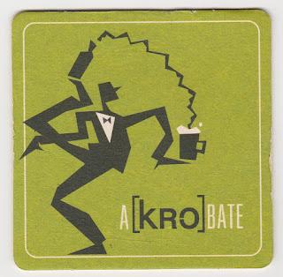 Le sous-bock A[kro]bate de la biére Kronenbourg