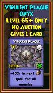 Virulent Plague - Wizard101 Card-Giving Jewel Guide