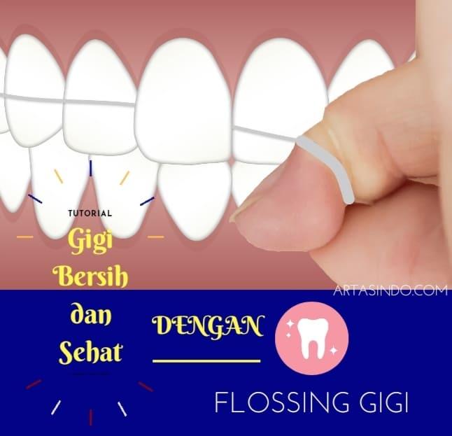 cara membersihkan gigi dengan benang