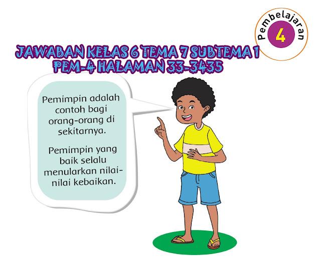 Kunci Jawaban Tematik Kelas 6 Tema 7