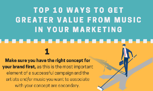 Top 10 Ways To Get Greater Value From Music in Your Marketing #infographic