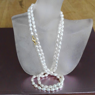 Lange Perlenkette Süßwasserperlen