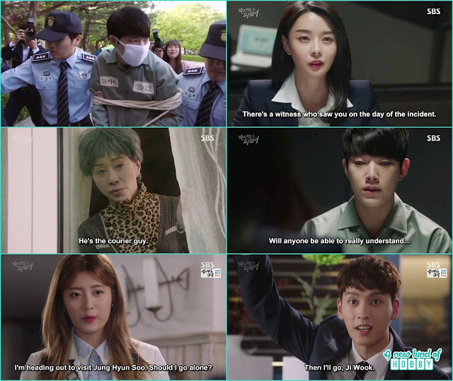 the deliveryman got introgated by yoo jung -  Suspicious Partner: Episode 11 & 12 korean drama