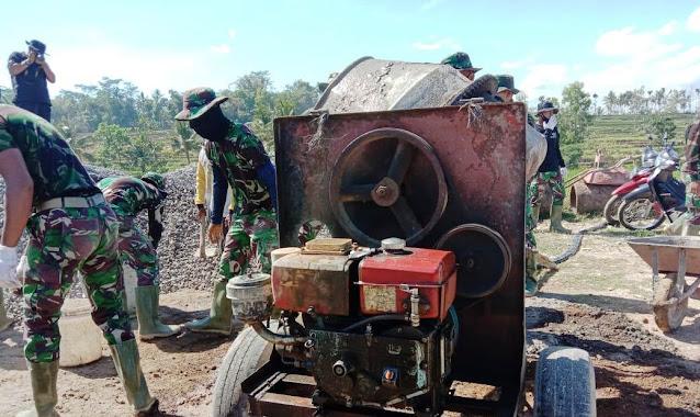 Derus Mesin Molen,  Sulut Semangat Satgas  TMMD 109 dan Warga Jatiwarno