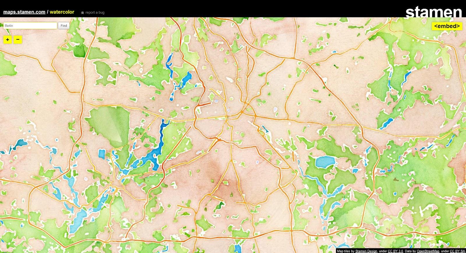 Deutschlandkarte Blog Wunderschon Openstreetmap In Wasserfarben