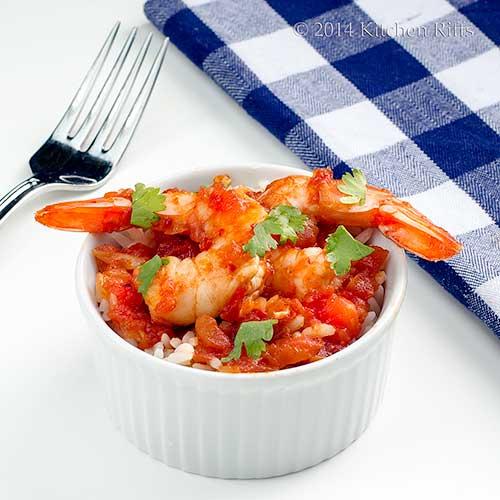 Shrimp in Chipotle Sauce