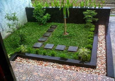 Small front garden design minimalist house