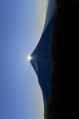 富士山のイメージを90度回転