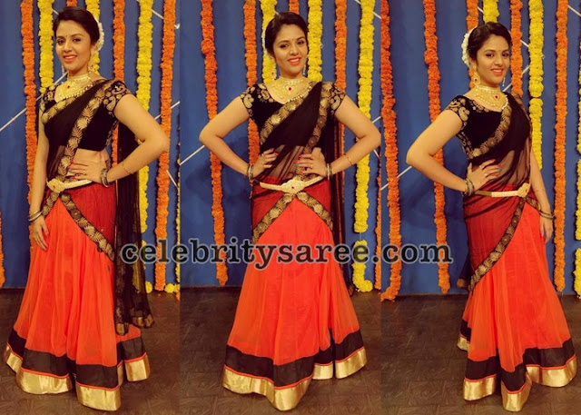Sreemukhi Simple Half Saree