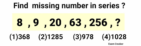 Missing number series questions and answers