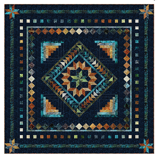 Courtyard Cabin Quilt designed by Elise Lea of Robert Kaufman