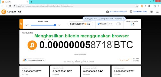 Cara mining Bitcoin dengan Cryptotab Browser di android