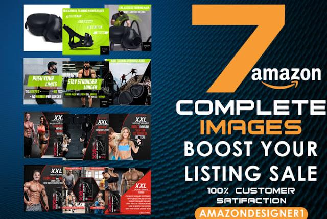 Premium 7 bol or amazon product listing image infographics - Infographic Design - Amazon Design