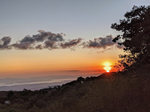Costa Rica Itinerary: Sunset in Monteverde