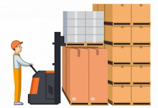 Storage Of Goods  In The Warehouse