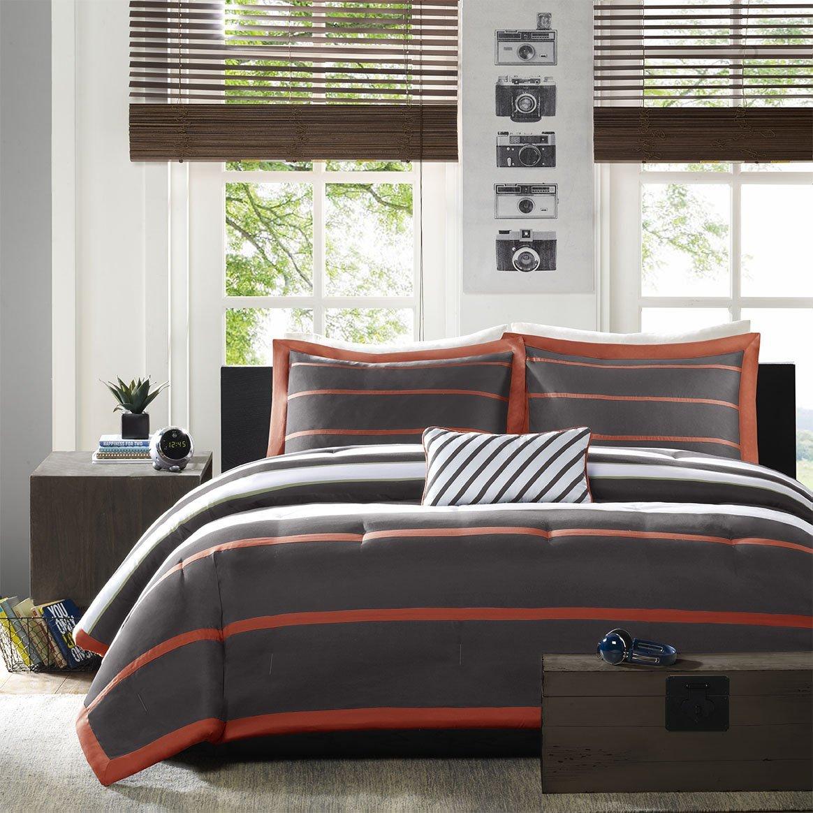 Orange And Grey Bedroom Total Fab Orange And Grey Bedding Sets