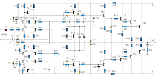 2800W power amplifier cicuit diagram