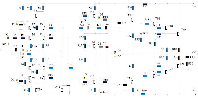 high power amplifier circuit 2800w