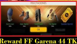 Reward FF Garena 44 Tk