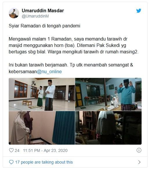 Imbauan Ibadah pada Rumah, Masjid pada Bantul Memandu Tarawih Menggunakan Pengeras Suara