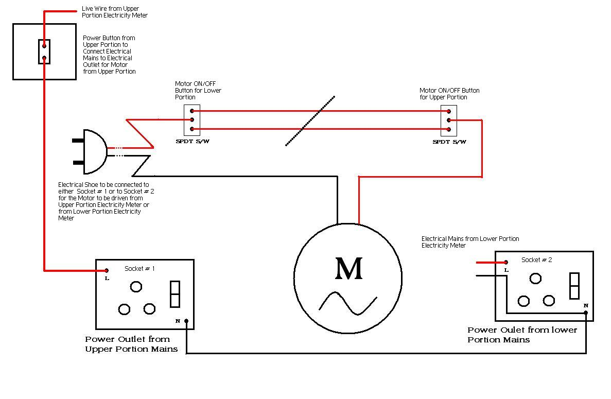 Embedded Systems Electrical Wiring Diagram To Run Electrical Motor From Two Separate