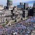 #ParoDocente: multitudinaria marcha de maestros al Ministerio de Educación