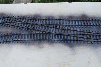 Painting Peco O gauge track