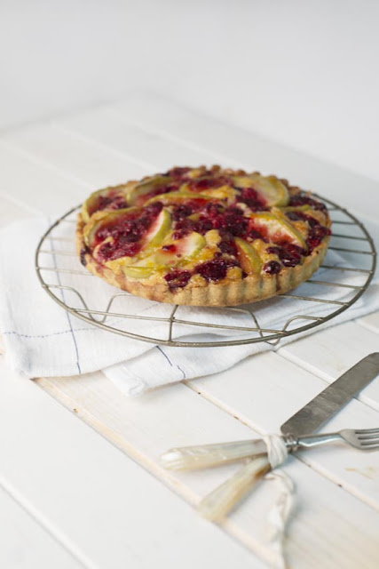 Apple and Raspberry Tart